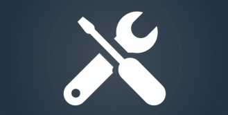 Icon: Wrench and screwdriver in an X configuration